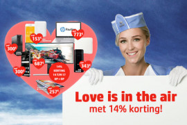 Love is in the air met 14% korting!